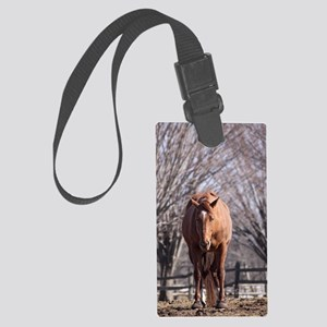 seth in trees Large Luggage Tag