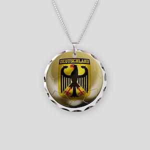 Deutschland Football1 Necklace Circle Charm