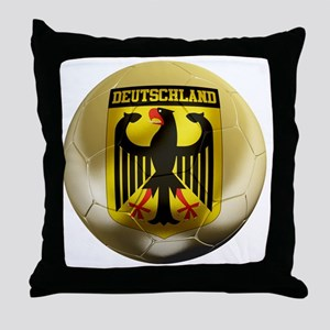 Deutschland Football1 Throw Pillow