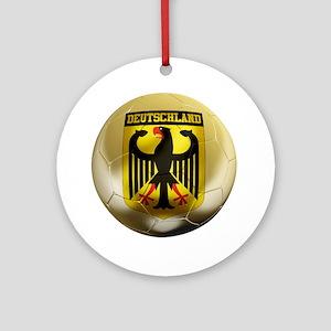 Deutschland Football1 Round Ornament