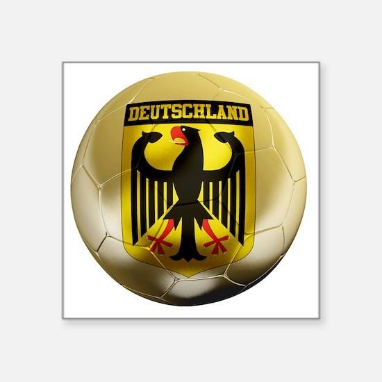 """Deutschland Football1 Square Sticker 3"""" x 3"""""""