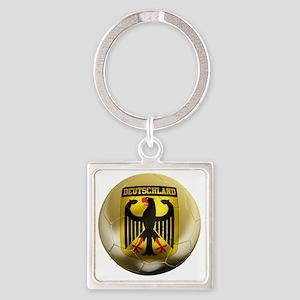 Deutschland Football1 Square Keychain