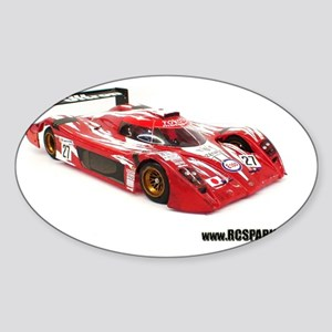 RC ADVENTURES Race Cars Sticker (Oval)