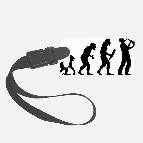 Saxaphone Player Luggage Tag