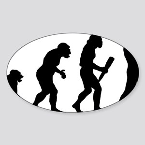 Saxaphone Player Sticker (Oval)