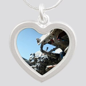 RC ADVENTURES Scale Trucks Silver Heart Necklace