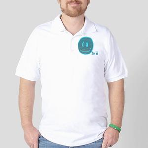 2-blue smiley Golf Shirt