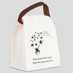 black flies 2 Canvas Lunch Bag