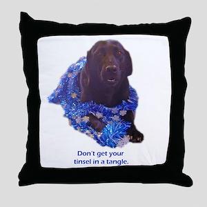 tinsel Throw Pillow