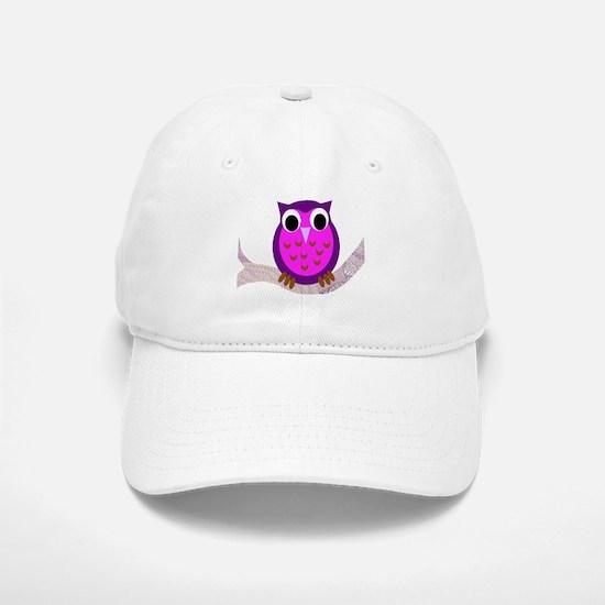 Pink and purple owl Baseball Baseball Cap