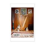 St Patrick's Day Sheltie puppies Mini Poster Print