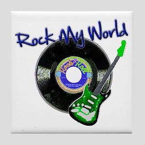 Rock My World Tile Coaster