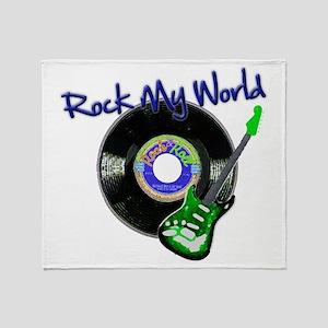 Rock My World Throw Blanket