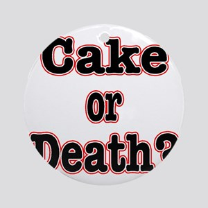 cake or death read Round Ornament
