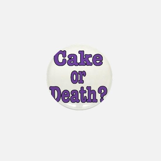 cake or death Blk purple Mini Button