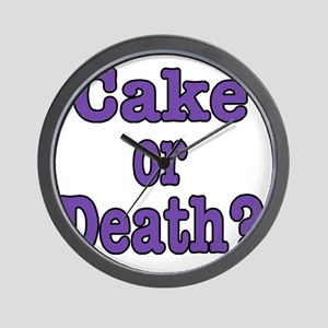 cake or death Blk purple Wall Clock