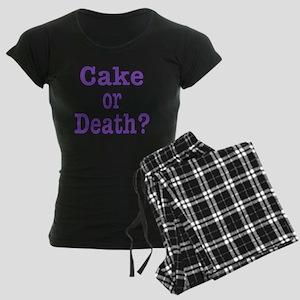 cake or death Blk purple Women's Dark Pajamas