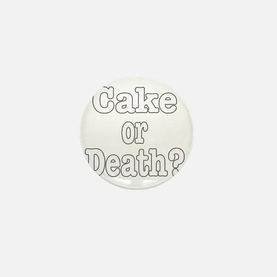 cake or death for dark Mini Button