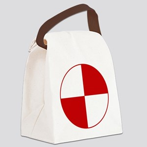 Crash Test Marker (Red and White) Canvas Lunch Bag
