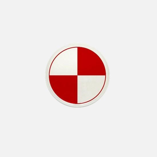 Crash Test Marker (Red and White) Mini Button