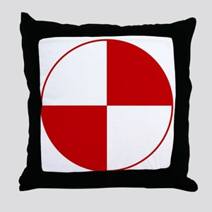 Crash Test Marker (Red and White) Throw Pillow