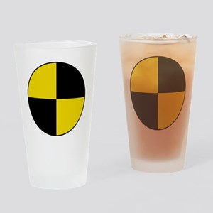Crash Test Marker (Yellow and Black Drinking Glass