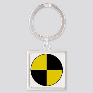 Crash Test Marker (Yellow and Blac Square Keychain