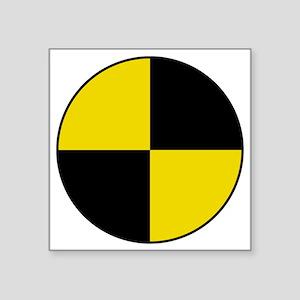"Crash Test Marker (Yellow a Square Sticker 3"" x 3"""