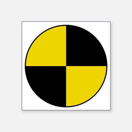 "Crash Test Marker (Yellow a Square Sticker 3"" x 3"""