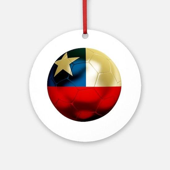 Chile Football Round Ornament