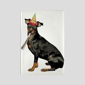 FIN-manchester-terrier-birthday Rectangle Magnet