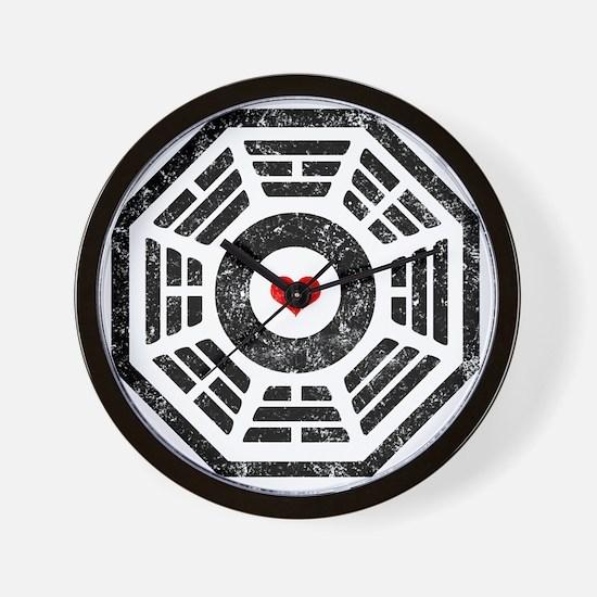 Dharma Heart Wall Clock