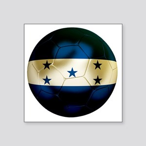 "Honduras Football Square Sticker 3"" x 3"""