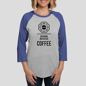 Lost Dharma Initiative Coffee Womens Baseball Tee