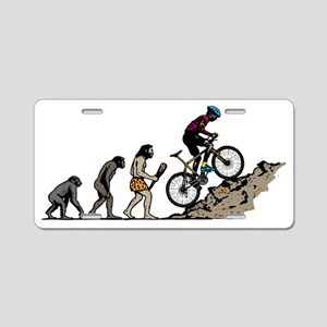 Mountain Biker Aluminum License Plate