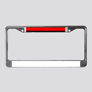 thin red line yard sign 1 License Plate Frame