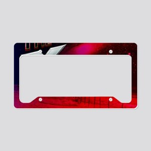 The X Zone Red Night Star Fie License Plate Holder