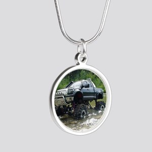TUNDRAS DAY OUT Silver Round Necklace