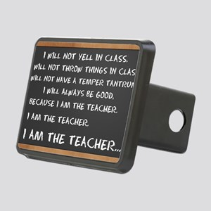 Chalkboard I AM THE TEACHE Rectangular Hitch Cover