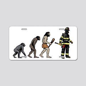 Fire Fighter Aluminum License Plate
