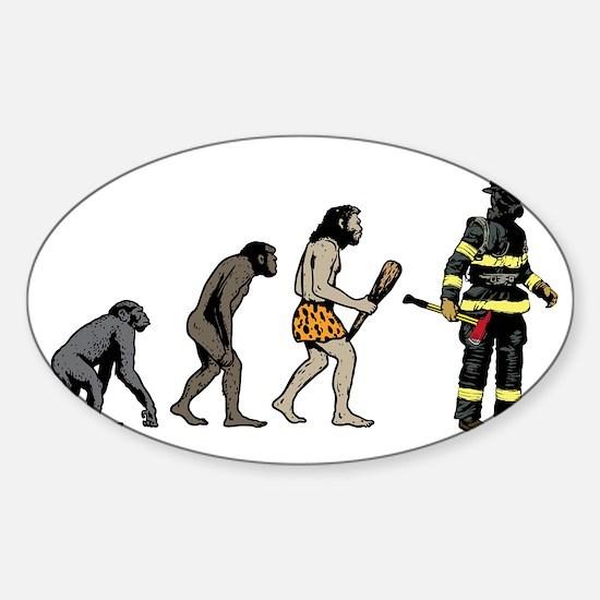 Fire Fighter Sticker (Oval)