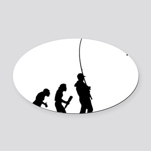 Fishing 01 Oval Car Magnet