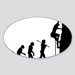 Rock Climbing 6 Sticker (Oval)