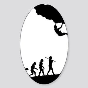 Rock Climbing 9 Sticker (Oval)