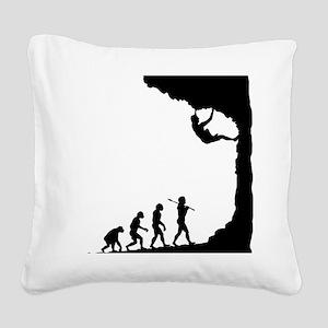 Rock Climbing 9 Square Canvas Pillow