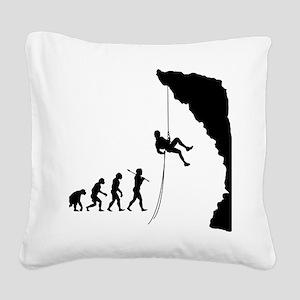 Rock Climbing 10 Square Canvas Pillow