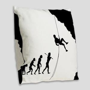 Rock Climbing 10 Burlap Throw Pillow