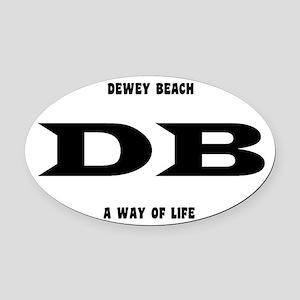 DeweyBeachEuroOval Oval Car Magnet