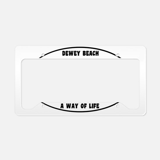 DeweyBeachEuroOval License Plate Holder
