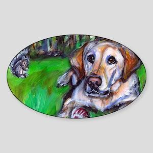 2-paintingcris Sticker (Oval)